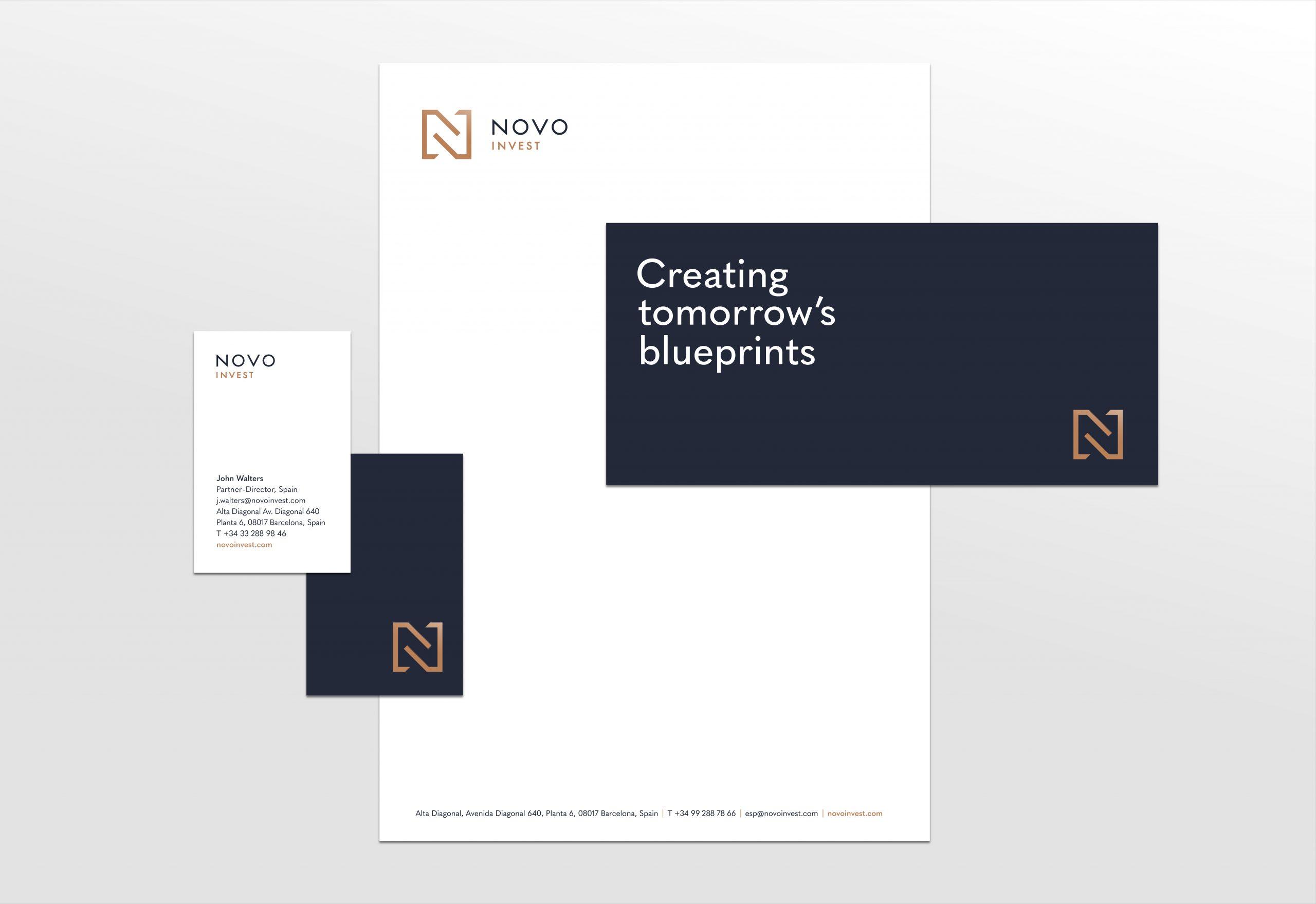 Novo Invest Corporate Identity Design
